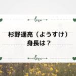 杉野遥亮(ようすけ)の身長は?イケメン俳優の出演作品を調べた。