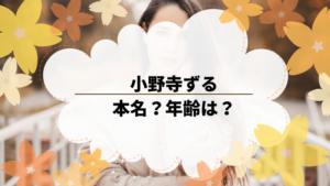 小野寺ずるは本名?年齢は?プロフィールや活動歴を調べてみた。