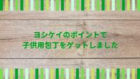 食材宅配サービス【ヨシケイ】のポイントで子供用包丁をゲット!